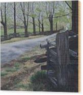 Road To Phillipsville Wood Print