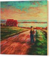 Road To Red Gables Wood Print