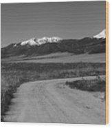 Road To Sangres Wood Print