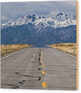 Road To The Mountains Panorama Wood Print