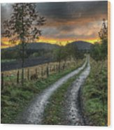 Road To The Sunset Wood Print