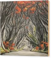 Road To The Throne Wood Print