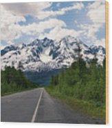 Road To Valdez Wood Print