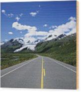Road To Worthington Glacier Wood Print