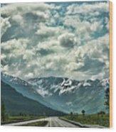 Road Travel Alaska Color  Wood Print