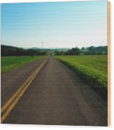 Road Weary Wood Print by Ross Powell