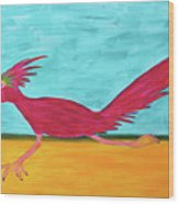 Roadrunner Hunter By Ken Tesoriere Wood Print