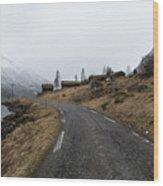 Roads Of Norway Wood Print