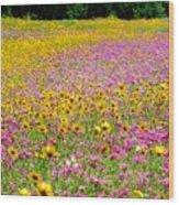 Roadside Flower Garden Wood Print