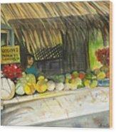 Roadside Fruit Stand Wood Print