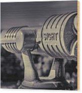 Roadside Telescope Wood Print