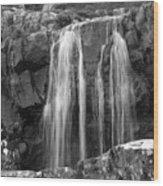 Roadside Waterfall - Ireland Wood Print by Mike McGlothlen