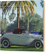 Roadster At The Castle Wood Print