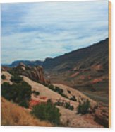 Roadway Rock Formations Arches National Park Wood Print