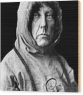 Roald Amundsen, The First Person Wood Print
