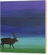 Roaming Elk Wood Print