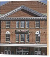 Roanoke City Market Building Wood Print