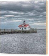 Roanoke Marshes Lighthouse, Manteo, North Carolina Wood Print