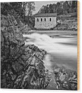Roanoke River Flow Wood Print