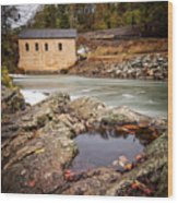 Roanoke River Niagra Rd Dam Wood Print
