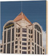 Roanoke Wells Fargo Bank Wood Print