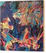 Roar Large Work Wood Print
