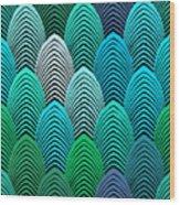 Roaring 20's Turquoise Wood Print