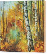 Roaring Birch  Wood Print
