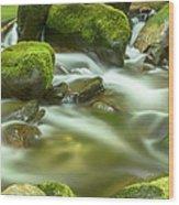 Roaring Fork Cascade Wood Print