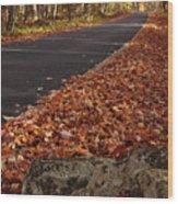 Roaring Fork Motor Trail In Autumn Wood Print by Andrew Soundarajan