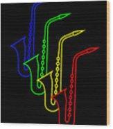 Roaring Jazz Wood Print