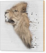 Roaring Lion No 04 Wood Print