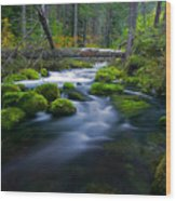 Roaring River Wood Print