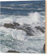 Roaring Water Wood Print