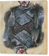 Robb Stark Wood Print by Denise H Cooperman