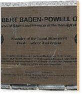 Robert Baden-powell Plaque Wood Print