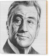Robert De Niro 17aug18 Wood Print