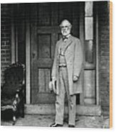 Robert E. Lee In Richmond, Virginia Wood Print