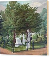 Robert E. Lee Visits Stonewall Jackson's Grave Wood Print