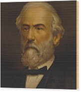 Robert E. Lee Painting Wood Print
