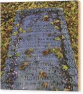 Robert Frosts Grave Wood Print