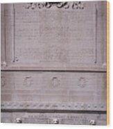 7- Robert Gould Shaw Monument - Back Side Eckfoto Boston Freedom Trail Wood Print
