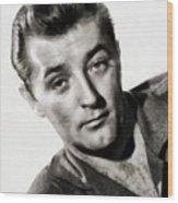 Robert Mitchum, Vintage Actor Wood Print