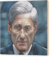 Robert Mueller Portrait , Head Of The Special Counsel Investigation Wood Print