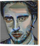 Robert Pattinson Wood Print