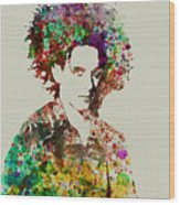 Robert Smith Cure 2 Wood Print by Naxart Studio