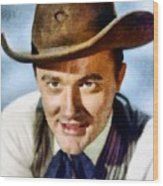 Robert Vaughn, Vintage Actor Wood Print