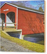 Roberts Covered Bridge Wood Print