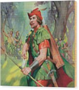 Robin Hood Wood Print by James Edwin McConnell