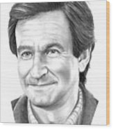 Robin Williams Wood Print